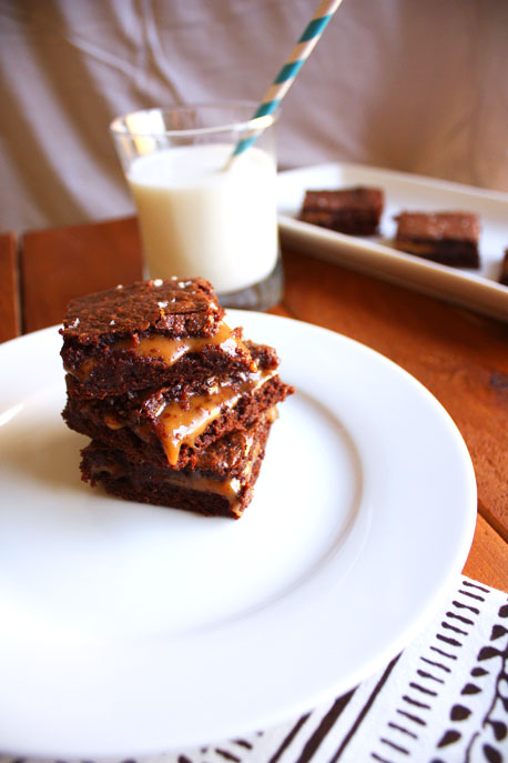 Salted Caramel Brownies She Makes And Bakes